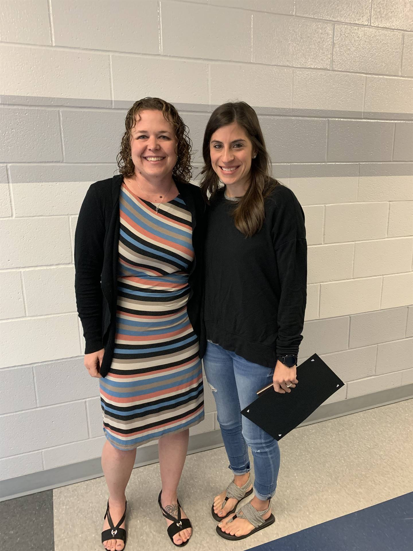 Bethany Shaw receiving Franklin B. Walter Outstanding Educator Award June 6, 2019
